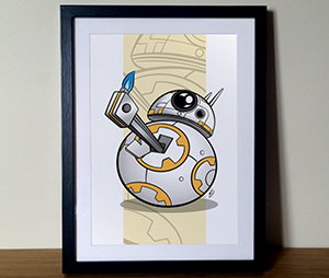 BB8 Star Wars Thumps Up Illustration