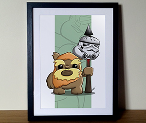 Ewok Star Wars Illustration Print