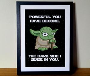 Funny Yoda Cartoon Star Wars