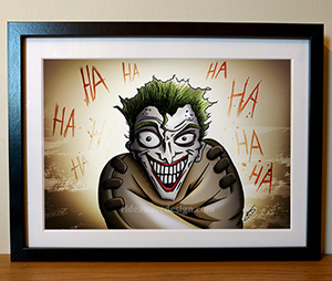The Joker Illustration Print