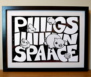 Pigs in Space Muppets Illustration