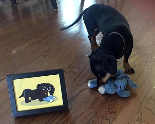 Illustration Dog Pet Portrait