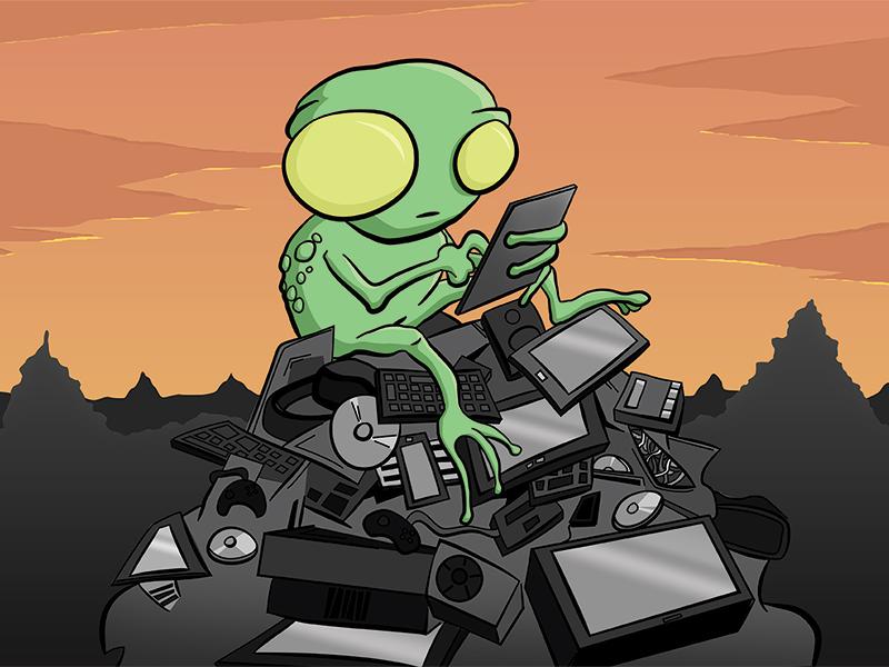 Alien Technologies Print