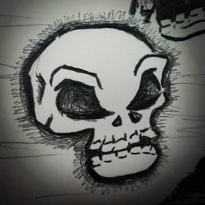 Halloween Skull Sketch