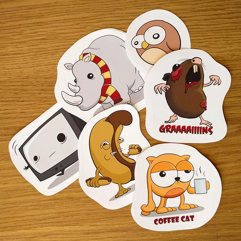 Cartoon Sticker Pack 1