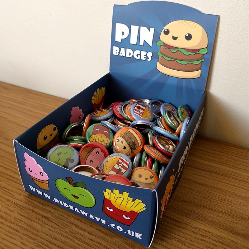 Cute Kawaii Cartoon Food Pin Badges