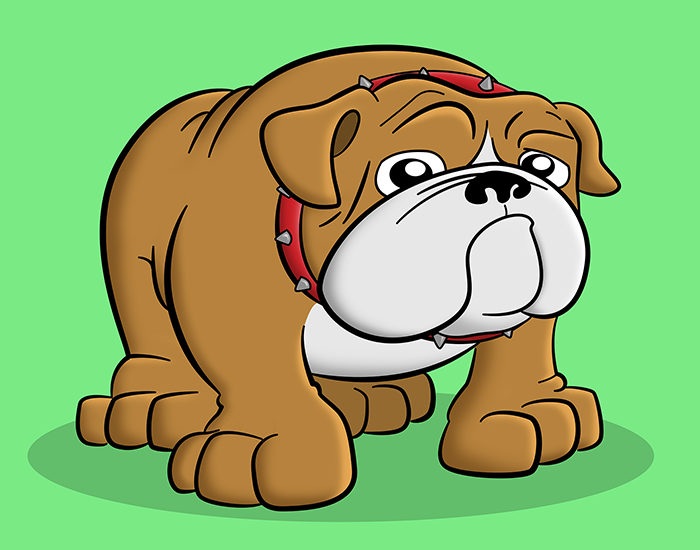 Cartoon Bulldog Pet Portrait