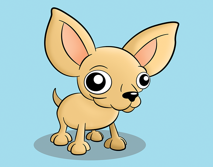 Cartoon Chihuahua Pet Portrait
