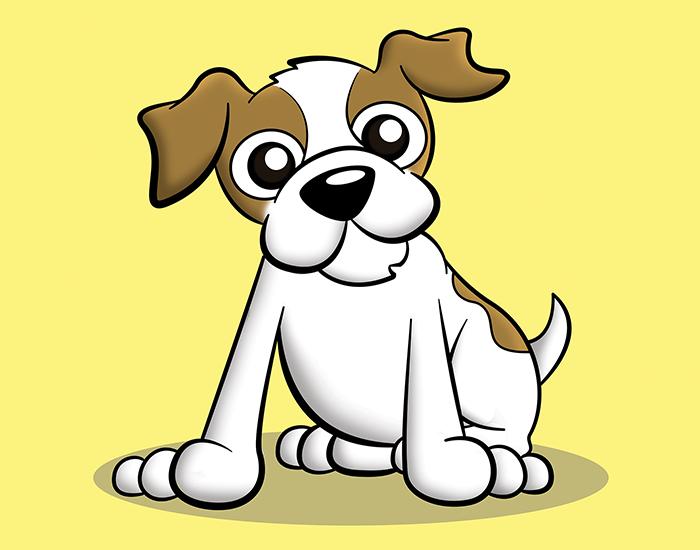 Cartoon Jack Russell Pet Print