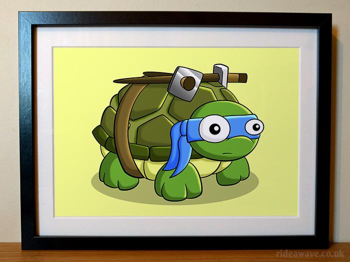 Cartoon Leonardo Framed Print