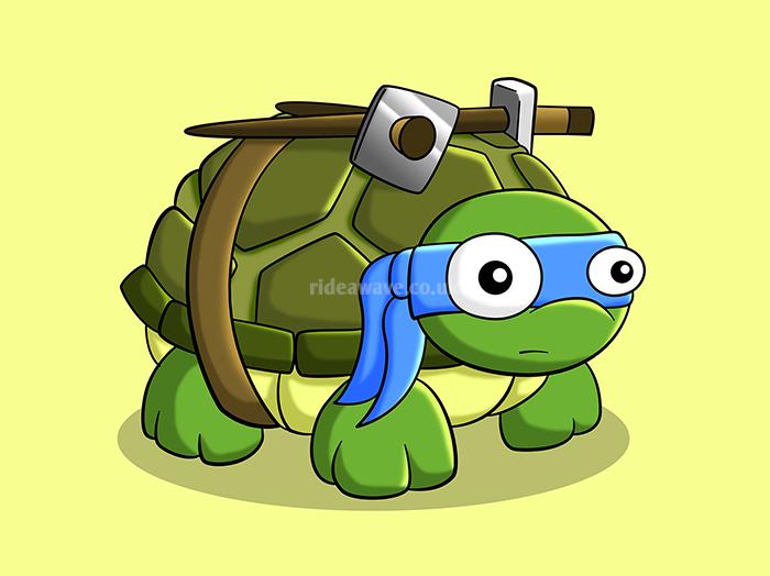 Leonardo Ninja Turtles Illustration Print