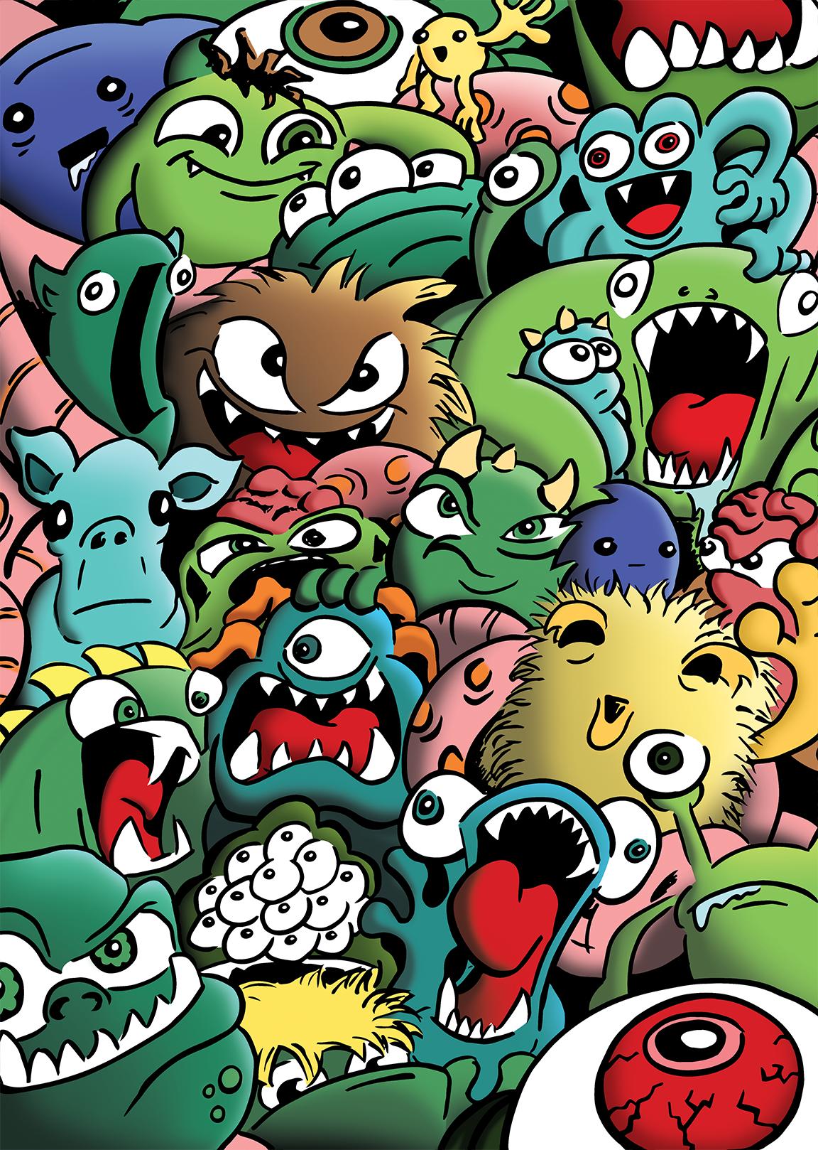 monster illustration manchester