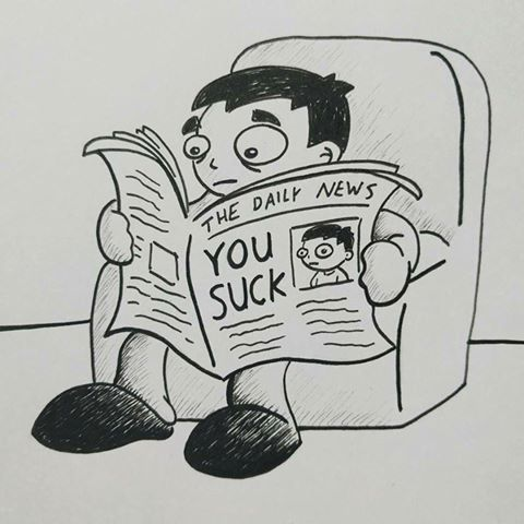 you suck fake news funny illustration