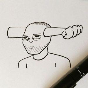 mr punch head illustration