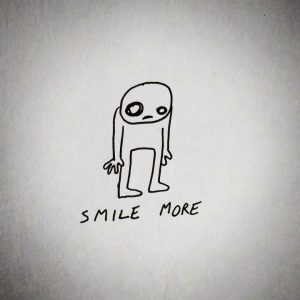 smile more sad illustration