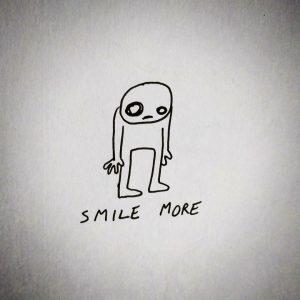 smile more sad illustration