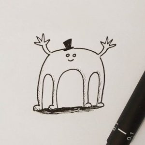 funny character illustration