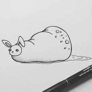 rabbit slug illustration