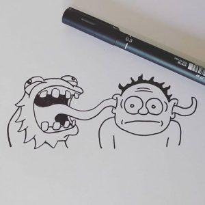 Weird monster illustration