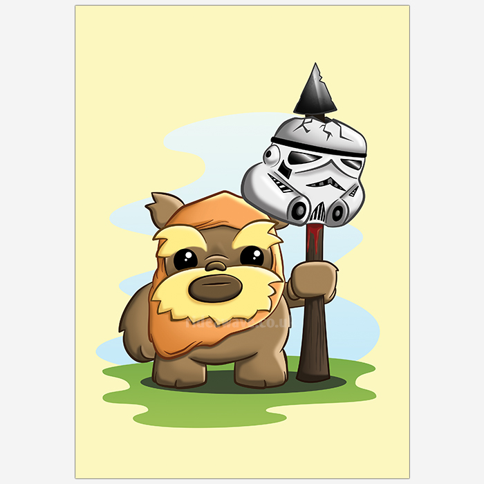 Cute Ewok Illustration