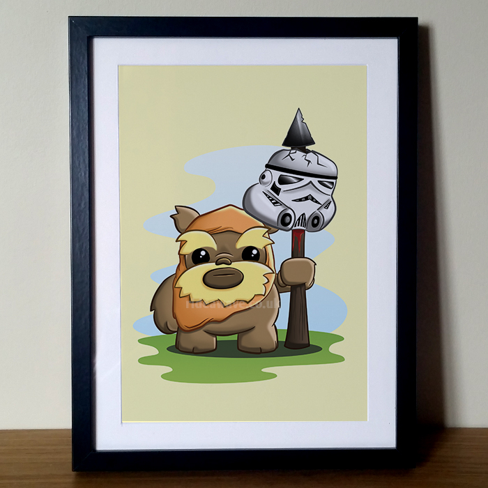 Cute Ewok Star Wars Print