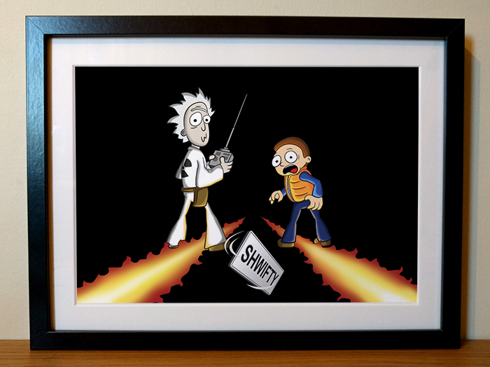 Rick and Morty Back to the Future