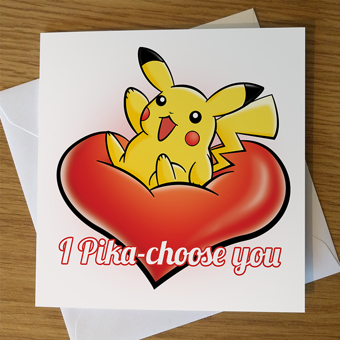 Pikachu Valentine's Day Card