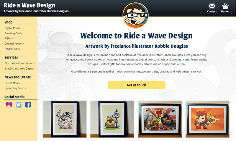 Ride a Wave Design new website