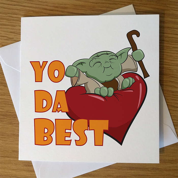 Yoda Star Wars Valentine's Day Card