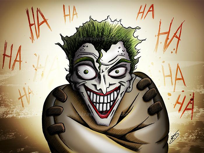 joker batman illustration print
