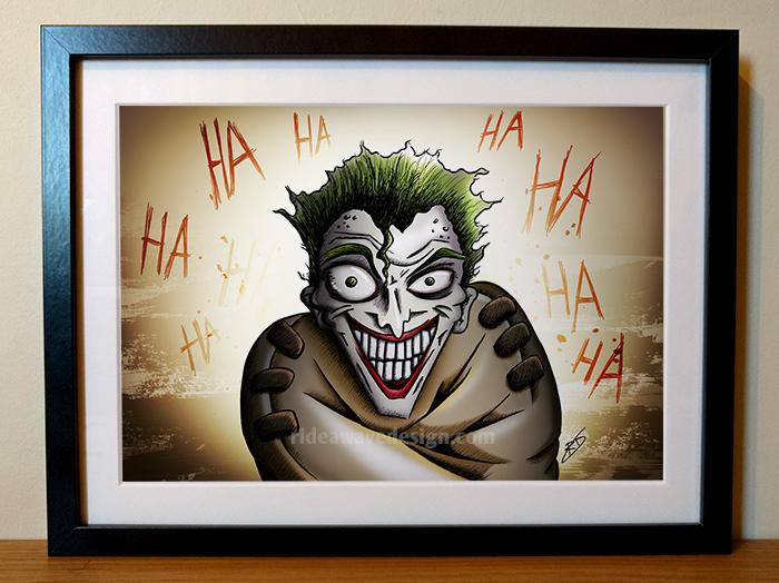 joker framed illustration print
