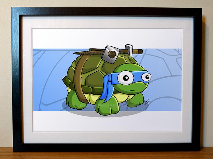 leo ninja turtles tmnt illustration print