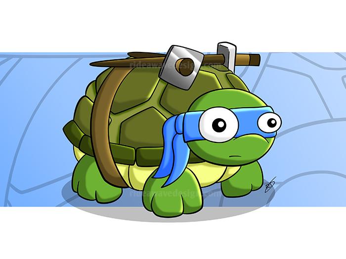 leonardo ninja turtles tmnt illustration print