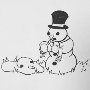 Melted Snowman Cartoon