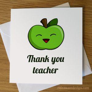 Thank you teacher card