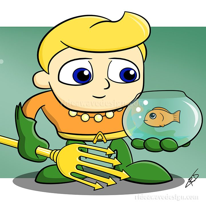 Aquaman illustration cartoon