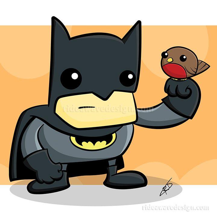 Batman and Robin illustration cartoon