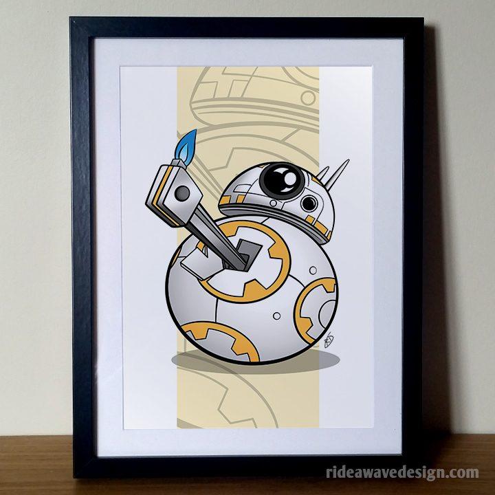 BB8 Star Wars art print