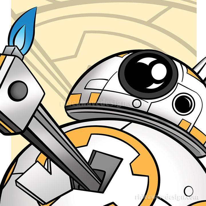 BB-8 Star Wars illustration