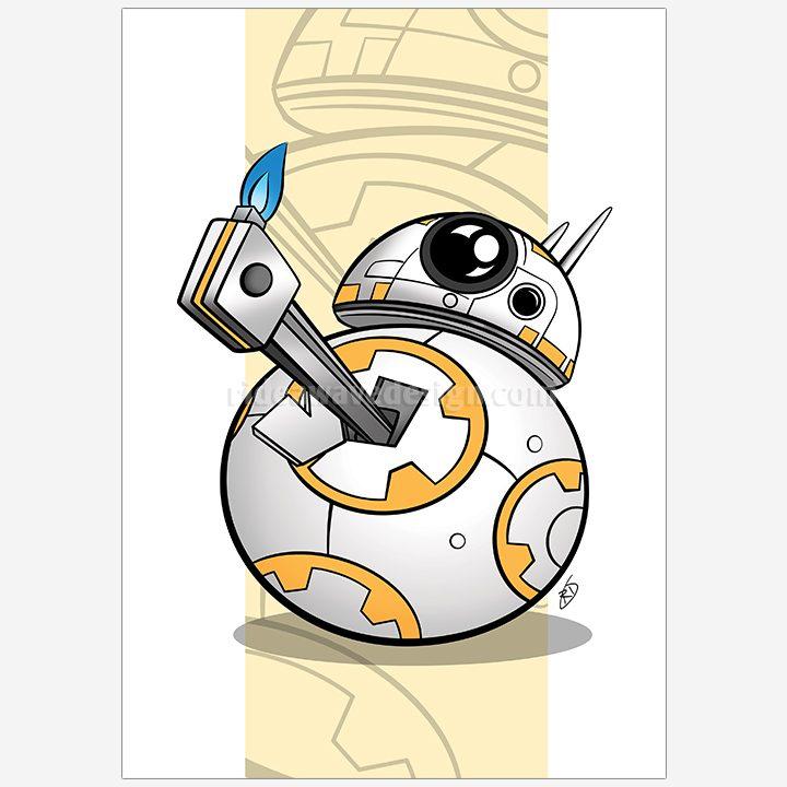 BB8 Star Wars illustration print