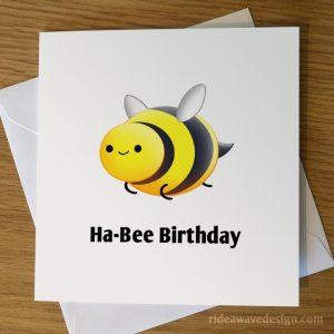 Cute Bee Birthday Card