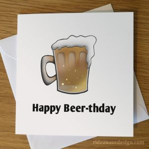 Happy Beerthday Beer Birthday Card