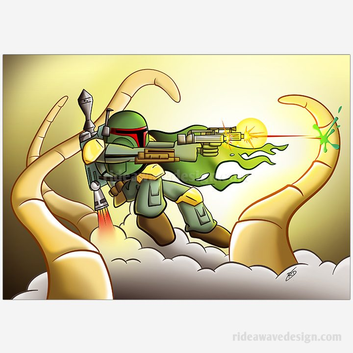 Boba Fett Star Wars Art Print
