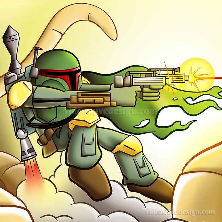 Boba Fett Star Wars Illustration