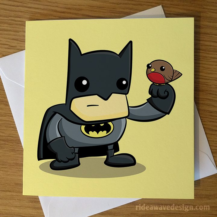 Cartoon Batman Greeting Card