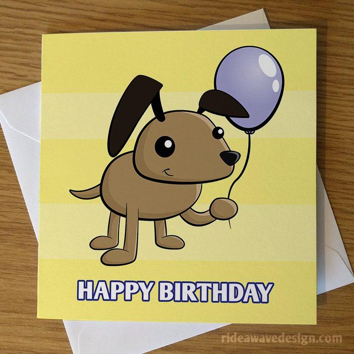 Cute Cartoon Dog Birthday Card