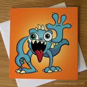 Cartoon Monster Greeting Card