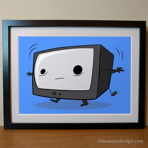 Cartoon TV art print