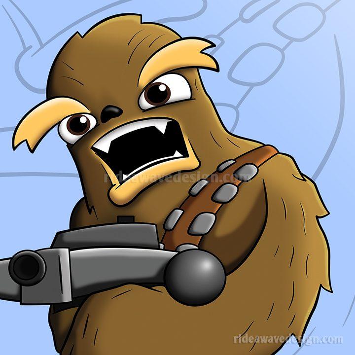 Chewbacca Star Wars illustration