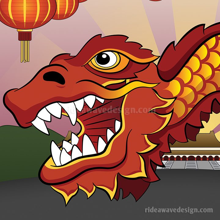 Chinese Dragon illustration